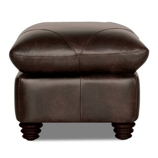 Darby Home Co Gardner Leather Ottoman