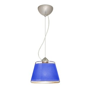 Pica 1 Bulb Cone Pendant by Besa Lighting