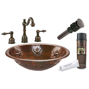Premier Copper Products Star Metal Oval Drop-In Bathroom Sink with Faucet