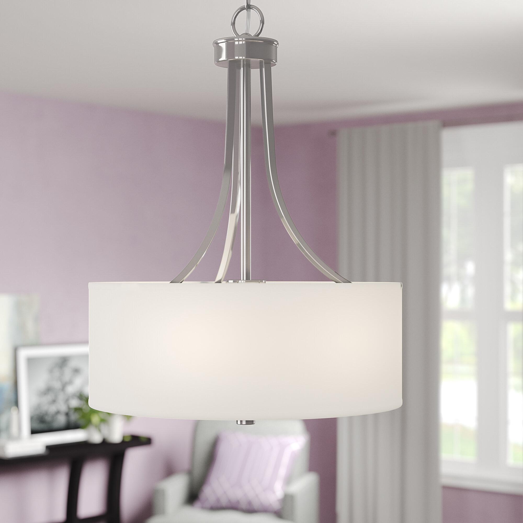 Ebern designs broyles 3 light chandelier reviews wayfair
