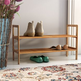 Where buy  2 Tier 8 Pair Shoe Rack By Rebrilliant