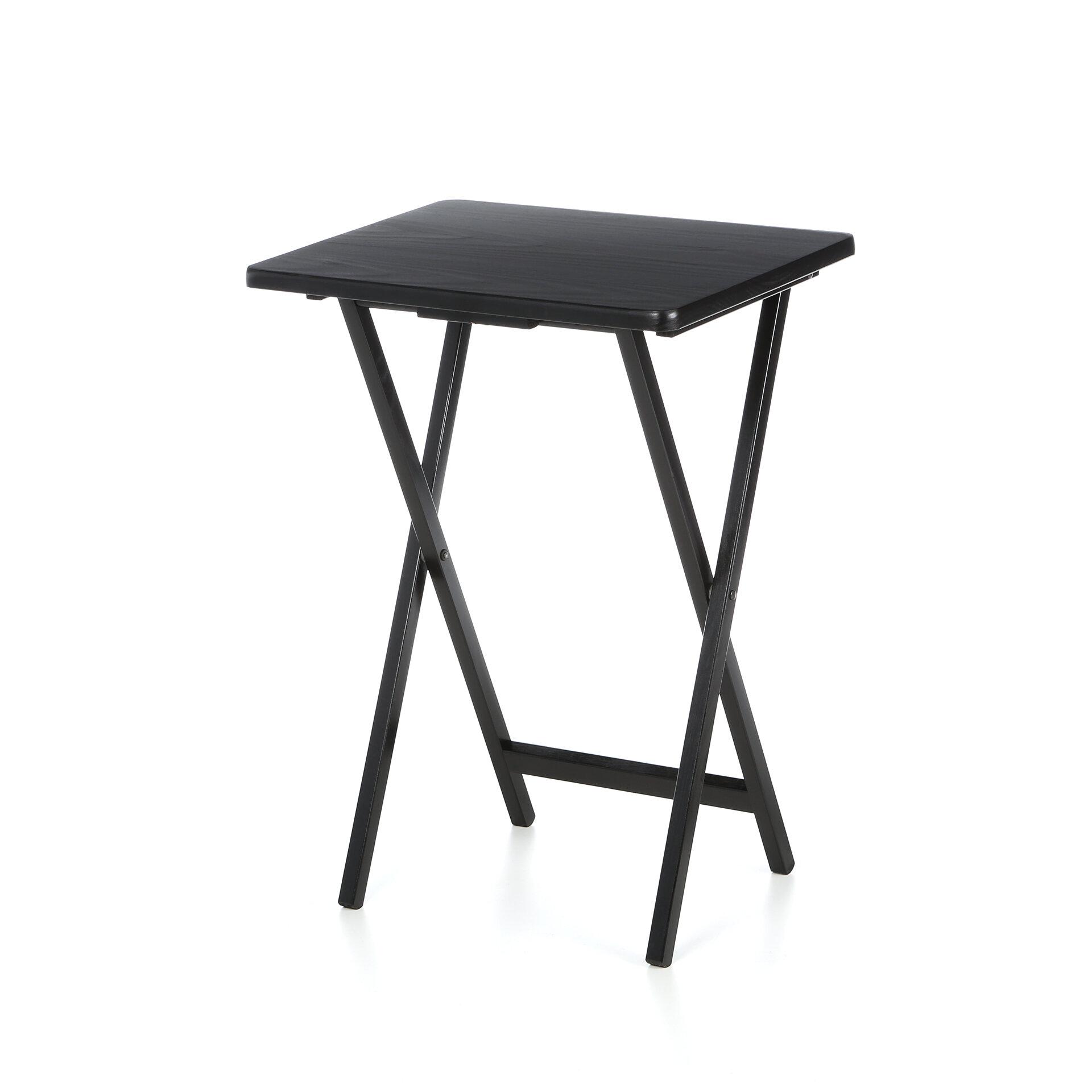 Red Barrel Studio Baca Ledbury Folding Tv Tray Table Set With Stand Reviews Wayfair