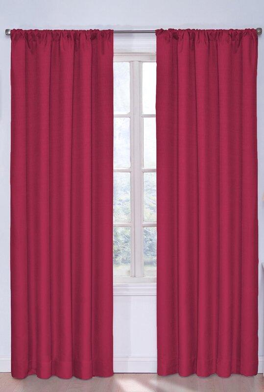 Panneau de rideau simple occultant et isolant Bailey Jean