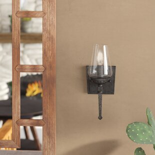 Rock Springs 1-Light Candle Wall Light by Loon Peak