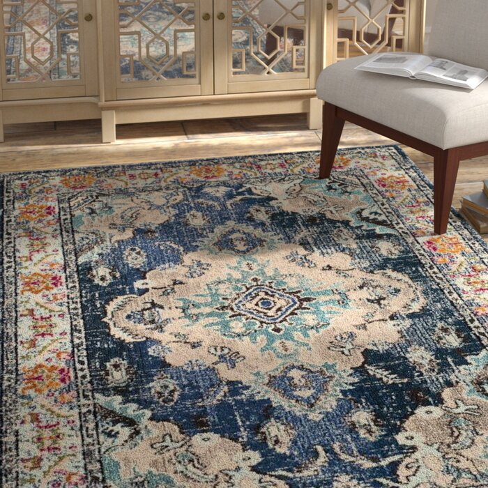 Annabel Navy Light Blue Area Rug