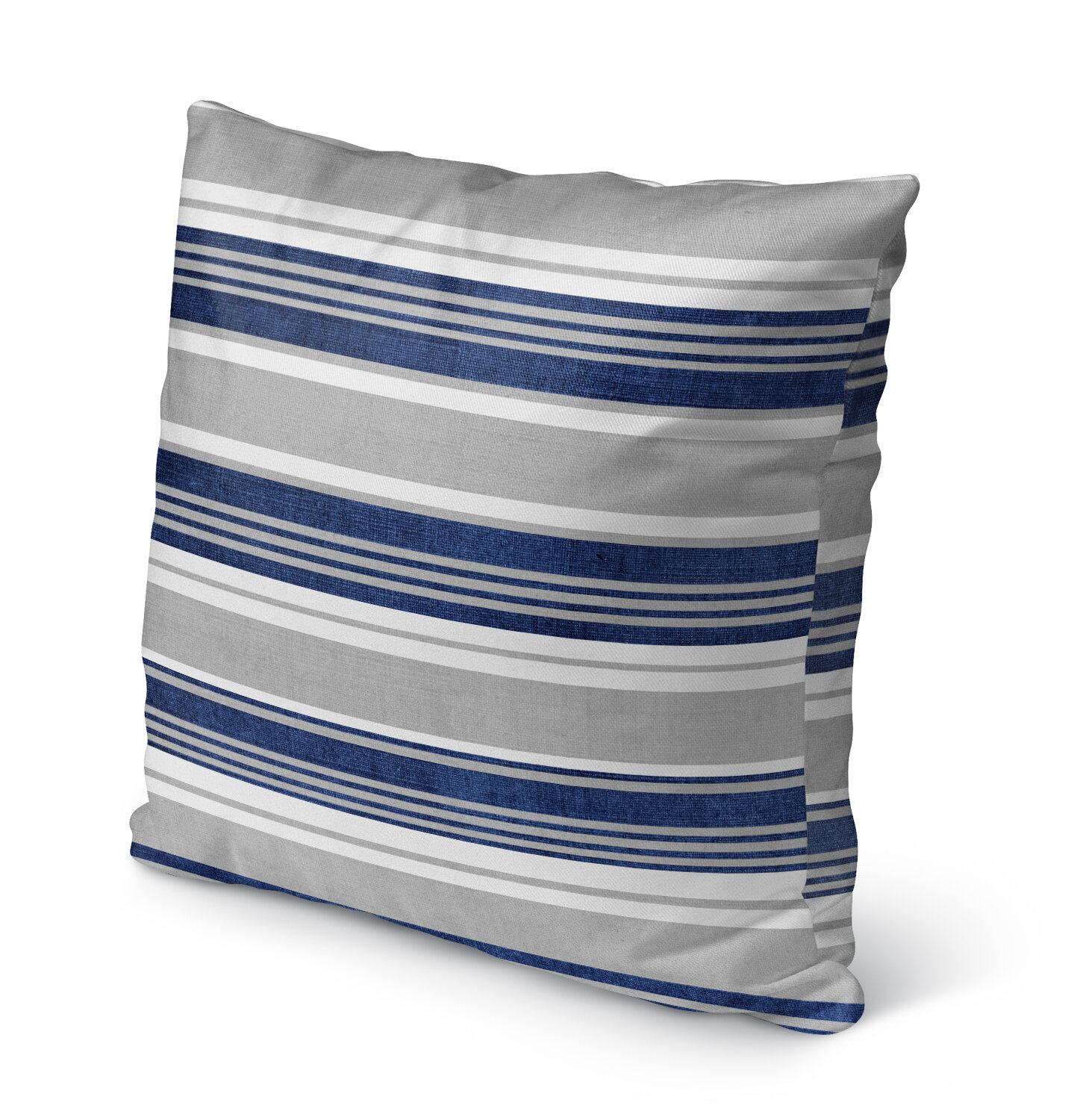 Breakwater Bay Miller Cotton Indoor Outdoor Striped Throw Pillow Reviews Wayfair
