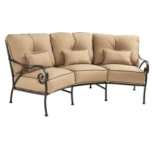 Lucerne Crescent Patio Sofa with Cushions by Leona