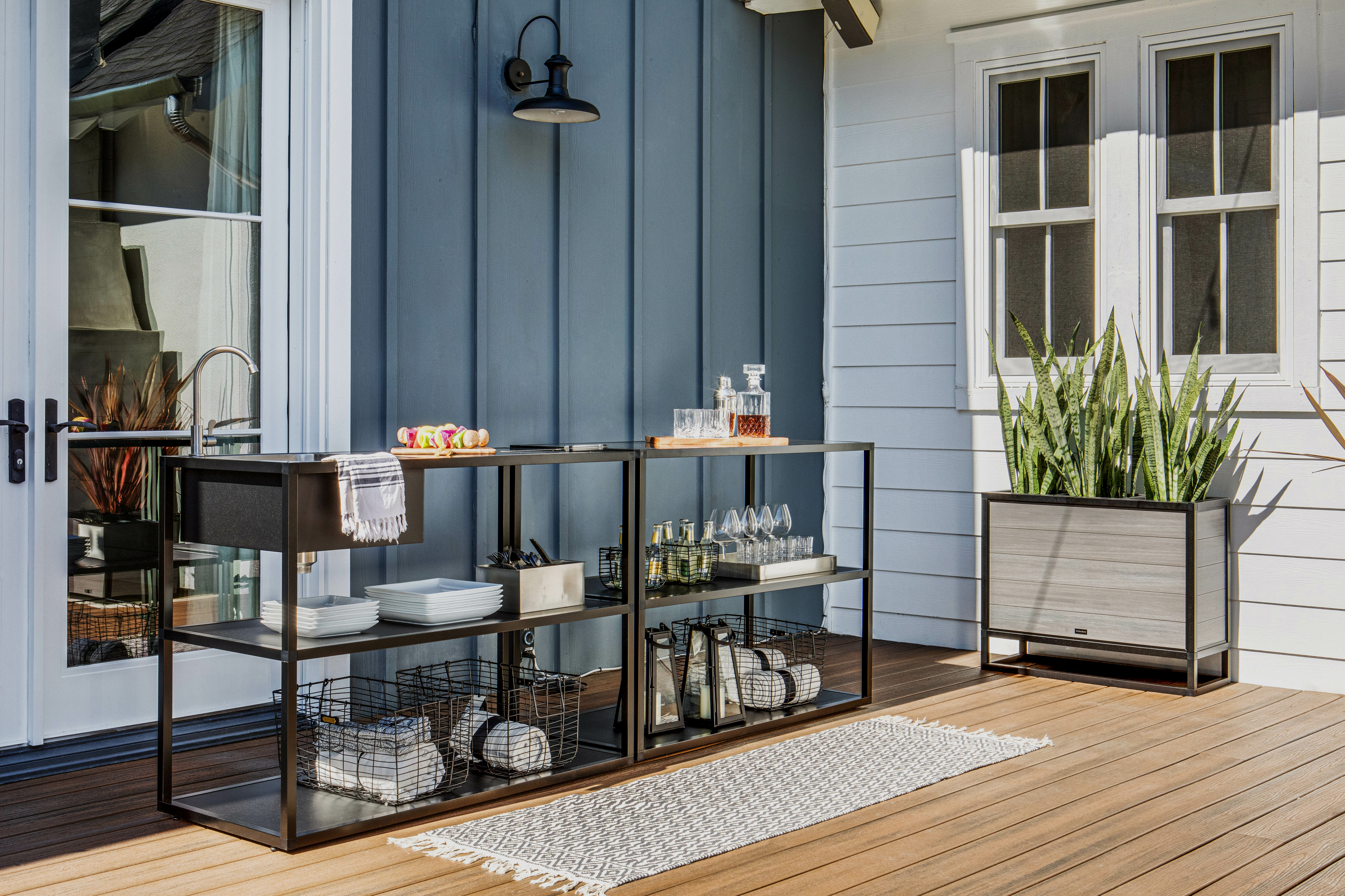 Outdoor Kitchen Series 5-Piece Modular Kitchen with Sink