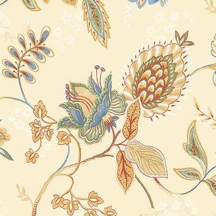 lynnfield 327 x 205 jacobean floral wallpaper