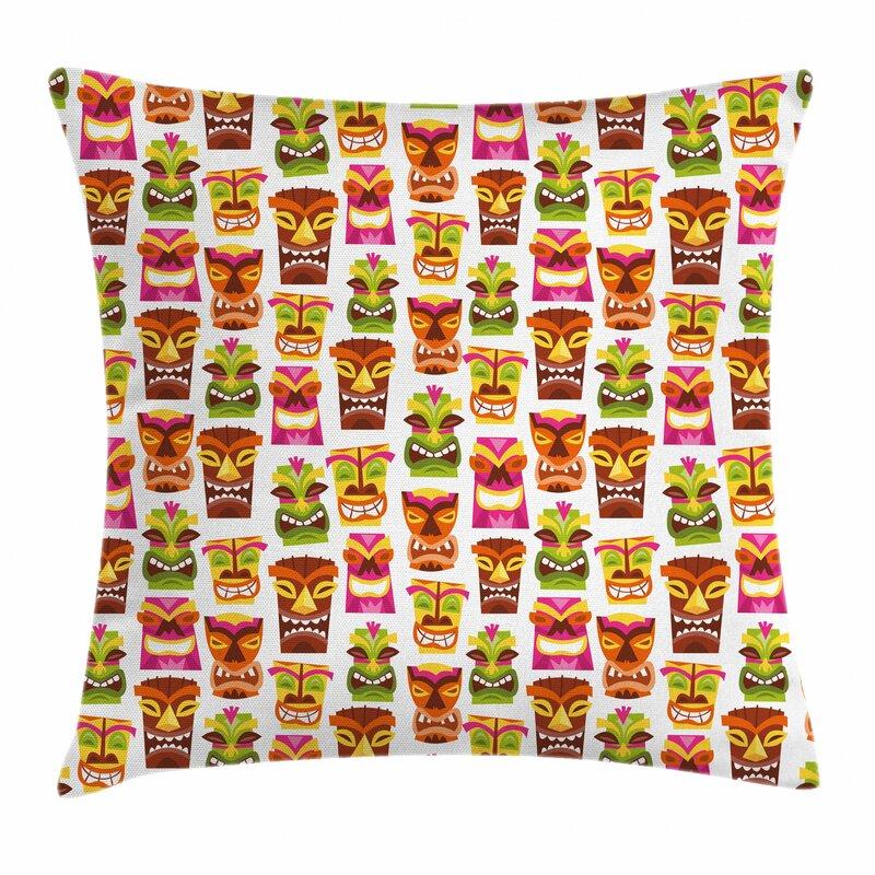 Ebern Designs Khadija Tiki Bar Hawaiian Outdoor Cushion ...