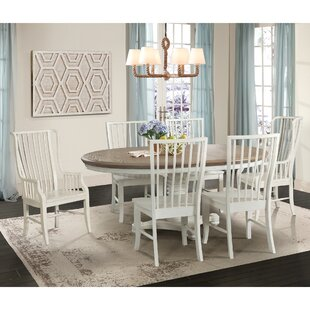Miner 7 Piece Extendable Solid Wood Dining Set