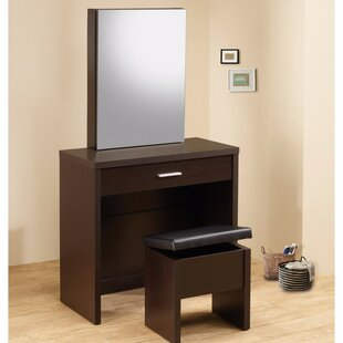 Red Barrel Studio Ashar Stylish 2 Piece Vanity Set with Hidden Mirror