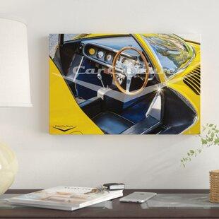 'Desire - Ferrari Dino Dashboard' Graphic Art Print on Canvas ByEast Urban Home