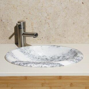 Best Reviews Stone Oval Drop-In Bathroom Sink ByAllstone Group
