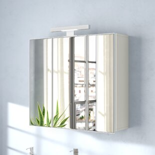 Keomi 70cm X 69cm Surface Mount Mirrored Cabinet By Belfry Bathroom