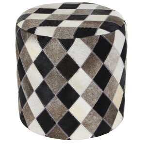 Kia Leather Ottoman by Union Rustic