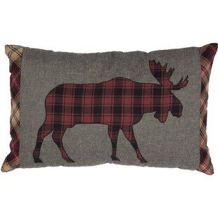 Dorval Applique Moose 100% Cotton Lumbar Pillow