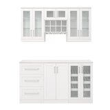 Home Bar 7 Piece Cabinet Set Shaker Style - 21 by NewAge Products