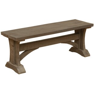 Frontier Cathedral Wood Bench by Fireside..