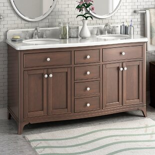 Compare prices Florence 60 Double Bathroom Vanity Set By Lanza