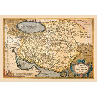 Map of The Middle East by A. Ortelius Framed Graphic Art  sc 1 st  Wayfair & Middle East Wall Art   Wayfair