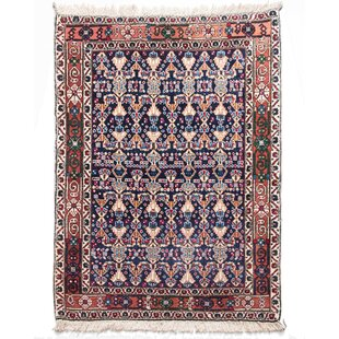 Lilian Hand Knotted Wool Brown/Blue Rug by Parwis
