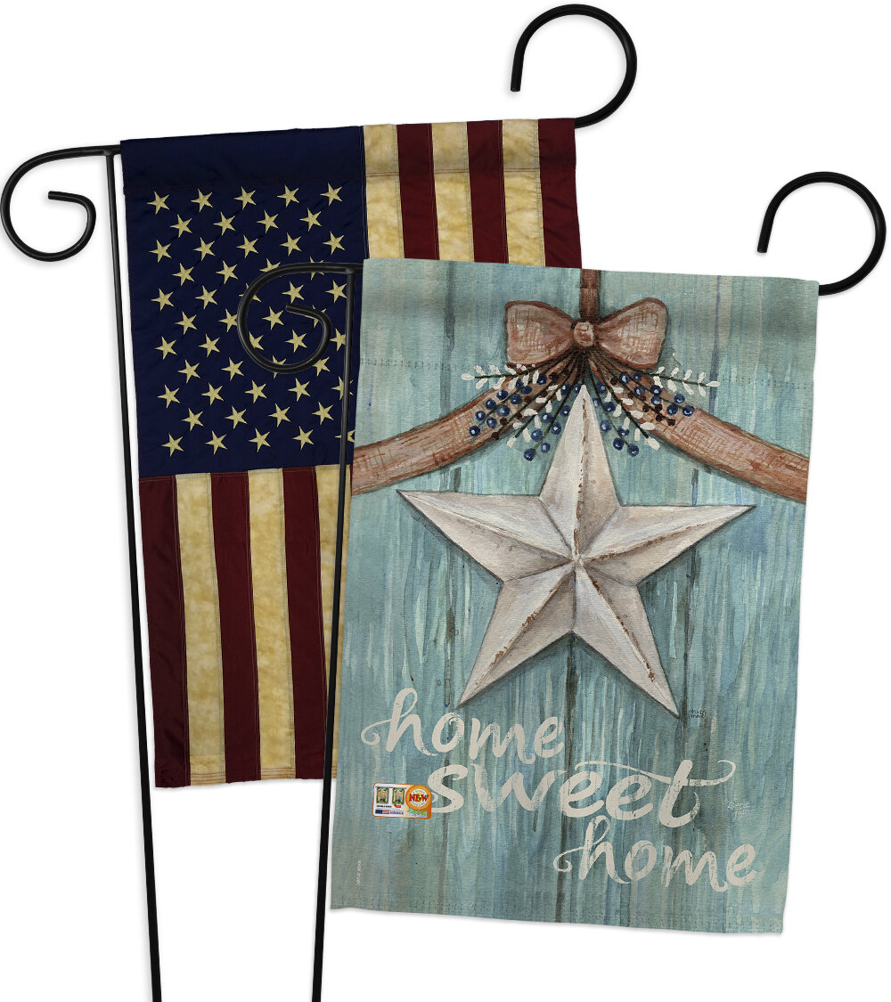 Breeze Decor Welcome White Barn Star Impressions Decorative 2 Sided Polyester 19 X 13 In 2 Piece Garden Flag Set Wayfair