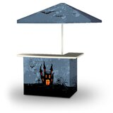 Zaha Halloween Haunted House 2-Piece Home Bar Set