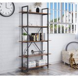 Leonor 70 H x 39.4 Metal Etagere Bookcase by 17 Stories