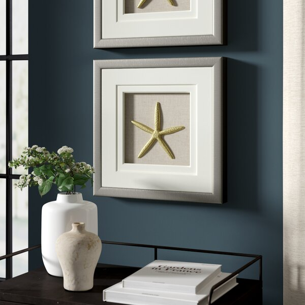 Greyleigh Starfish Shadow Box Wall Décor | Wayfair