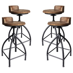 Arballo Metal Adjustable Height Bar Stool - set of 4 (Set of 4) by Williston Forge