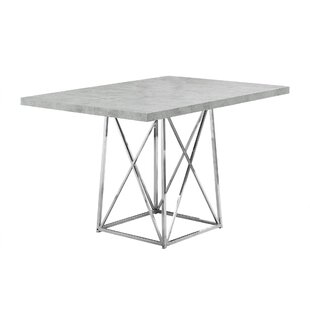 Damia Metal Dining Table by Latitude Run