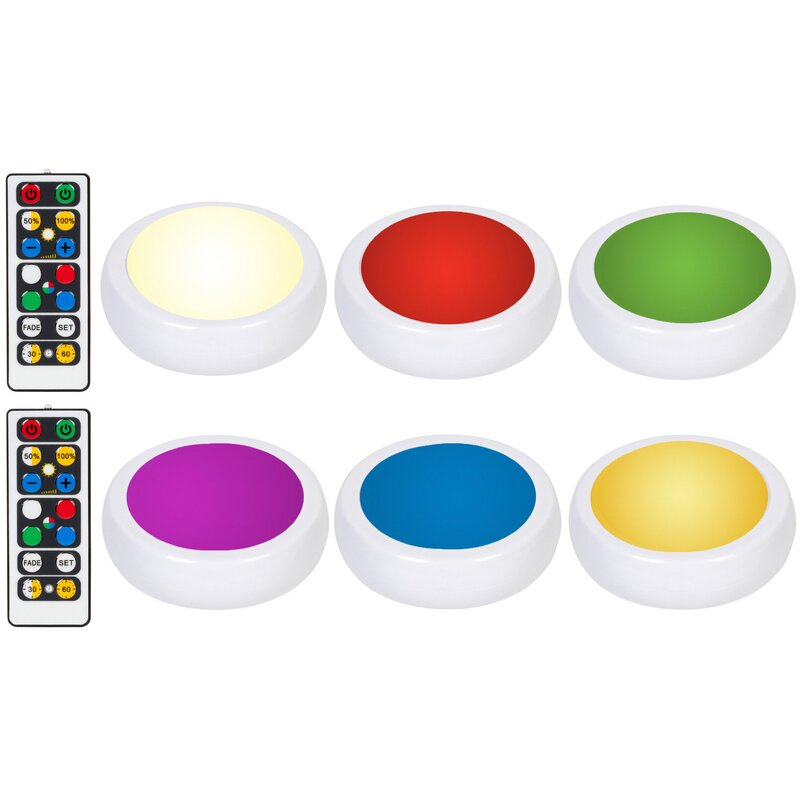 Wireless Color Changing 6 Light Led