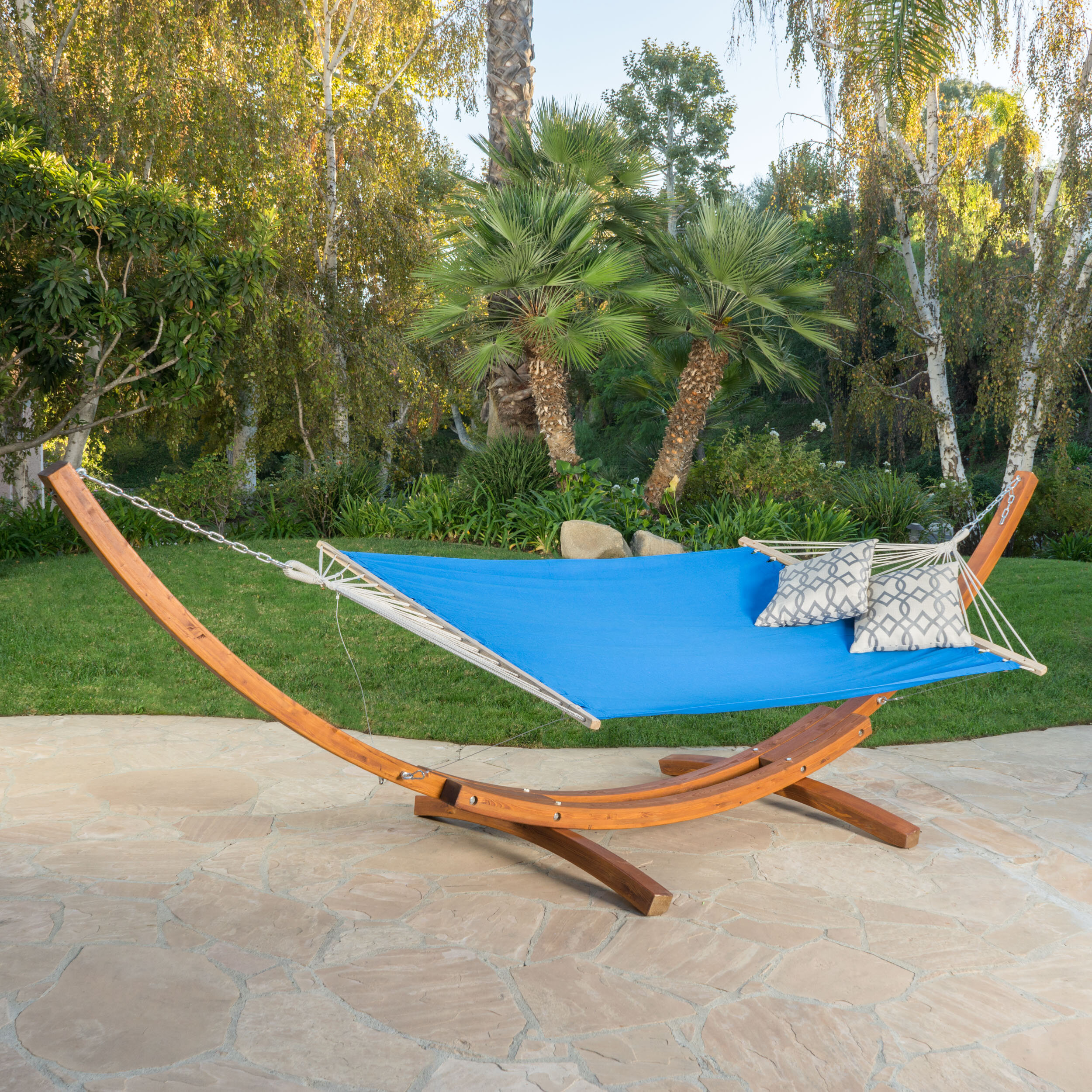 wooden caribbean hammock relax cheap stands with stand tribeam a anywhere spun tri xx combo large beam dfohome polyester soft hammocks steel