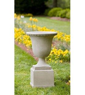 Campania International Williamsburg Pedestal Cast Stone Urn Planter