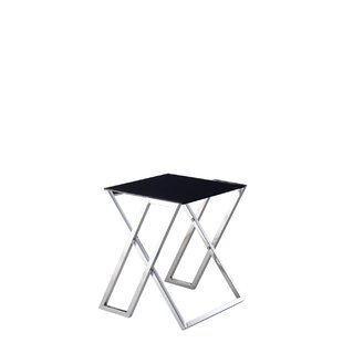 Best Price Luxe End Table by Pasargad