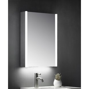 Cruise 50cm W X 70cm H Surface Mount Mirror Cabinet With LED Lighting By Belfry Bathroom