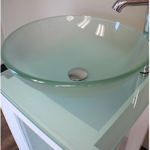 Frosted Glass Round Vessel Bathroom Sink by Cambridge Plumbing