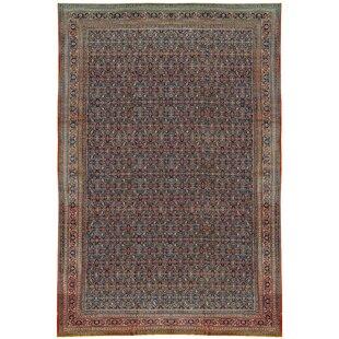 One-of-a-Kind Tabriz Handwoven Wool Brown/Blue Indoor Area Rug by Bokara Rug Co., Inc.