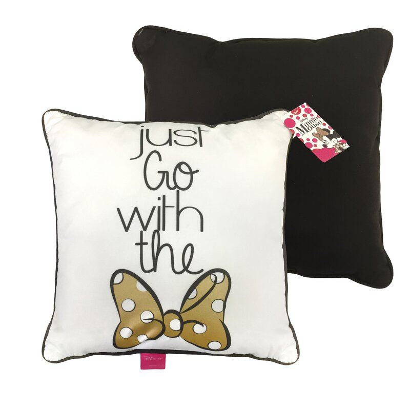 Disney Minnie Mouse Just Go With The Bow Plush Decorative Toss Throw Enchanting Minnie Mouse Decorative Pillow