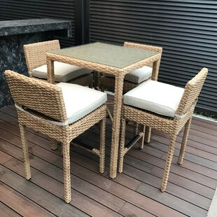 Roots Premium 5 Piece Pub Table Set by Signature Rattan