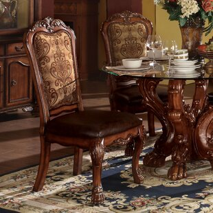 Welliver Traditional Upholstered Dining Chair (Set of 2)