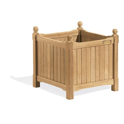 Harpersfield Shorea Wood Planter Box Beachcrest Home Size: 17 H x 19 W x 19 D