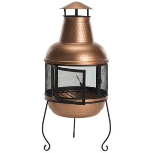Safavieh Lima Hammered Iron Chiminea