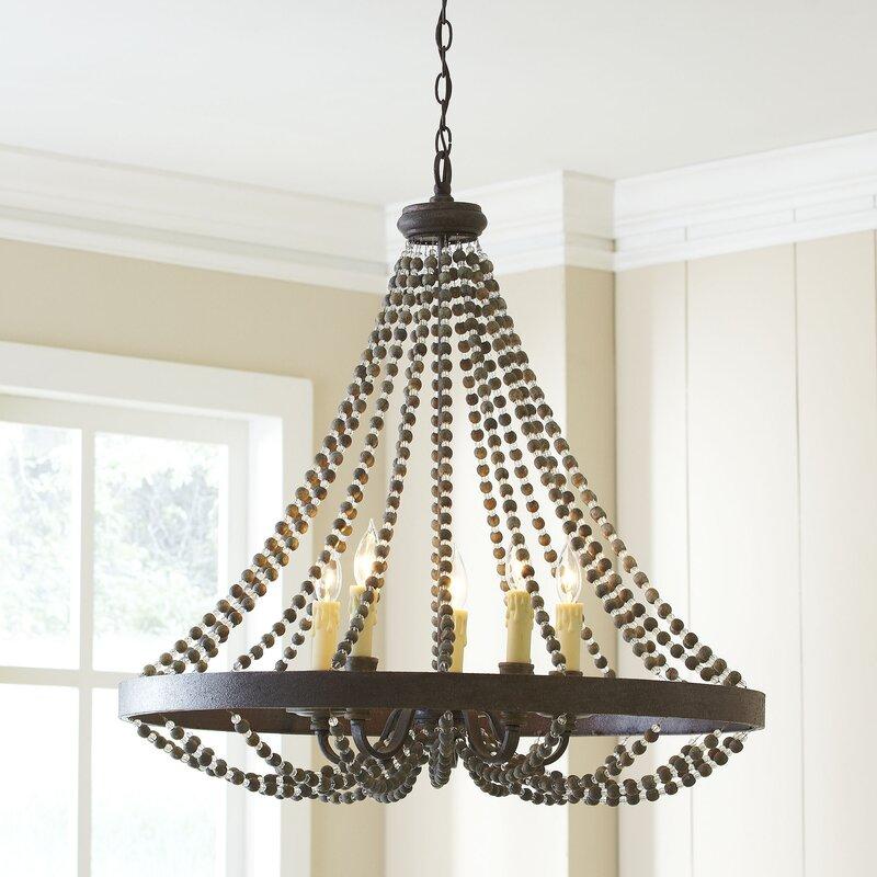 marinette 5light candlestyle chandelier