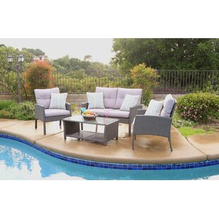 Cramden 4 Piece Sofa Seating Group with Cushions