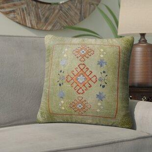 Janine Distressed Indoor/Outdoor Throw Pillow