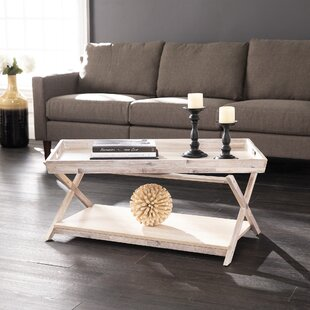 Boldari Cross Legs Coffee Table with Storage by Gracie Oaks