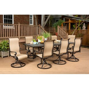 Brayden Studio Sweeten 9-Piece Dining Set