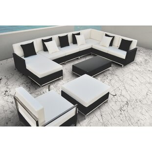 Solis Patio Finis 8 Piece Rattan Sectiona..